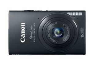 Nearly New Canon PowerShot ELPH320HS digital camera with case