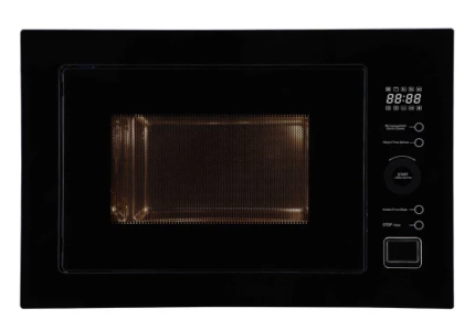 Microwave - New (not used) - Slim line built in, black glass