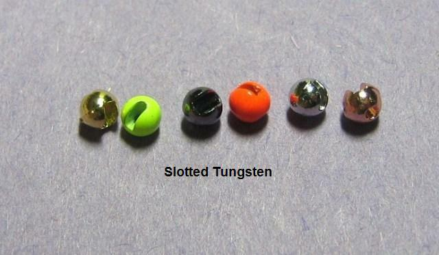 100 SLOTTED TUNGSTEN beads>6 colors/4 sz. available-USE CHART-5 pacs of 20 beads