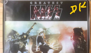 "KISS PROMO POSTER ""GREATEST KISS"" LP MERCURY RECORDS"