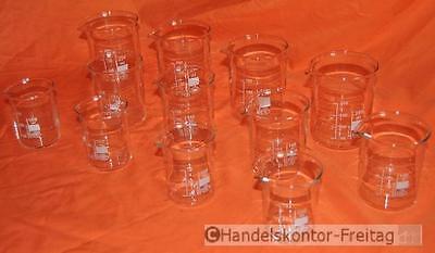 SIMAX Becherglas-Set 12-teilig klein, je 4x 100ml, 150ml, 250ml, SONDERPREIS