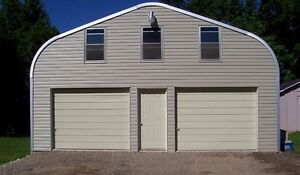 1/2 PRICE 25 FOOT X 28 FOOT 4 VEHICLE GARAGE KIT FOR SALE