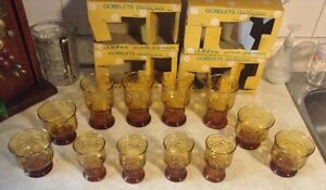 VINTAGE COUNTRY GARDEN.VTG RUSTIC TUMBLERS IN 3 SIZES BY LIBBEY. Gatineau Ottawa / Gatineau Area image 4