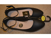 BNWT ATMOSPHERE flat womens shoes black balerines size UK 8 42 comfortable