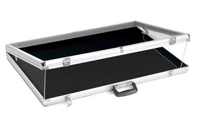Brand New Large Portable Display Countertop Showcase Aluminum Case Lock34x22x3