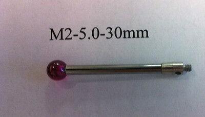 M2 Cmm Stylus Styli  5.0mm Ruby Ball 30mm Length A-5003-0047