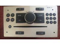 Vauxhall Opel Zafira Astra CD30 MP3 Stereo Radio Silver Gold CD player