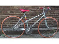 Single Speed Vintage PEUGEOT frame 19in built by us NEW parts : saddle, tyres, chain, brakes, bar