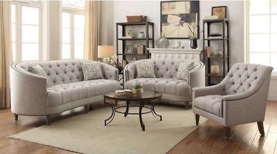 Coaster Fine Furniture Avonlea Stone Grey Sofa and Loveseat (Fine Furniture Sofas)