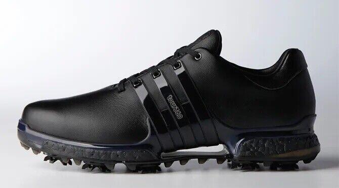 RARE EUC Men's Adidas Tour 360 Triple Black Golf Shoes Size 11 - No Box