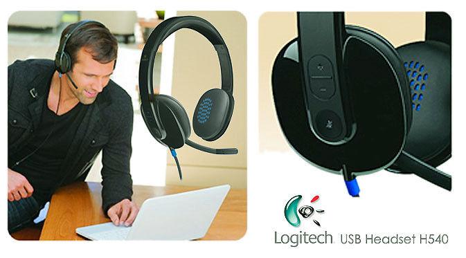 Logitech H540 On-Ear USB Headset Black 981-000510