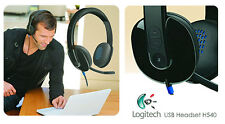 买和卖 Logitech H540 981-000510 USB Headset for PC Calls and Music Black Noise Cancel 靠近我
