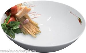 ITALIAN TOMATO Porcelain Vegetable / Pasta Serving Bowl / Plate / Dish