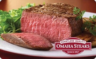Omaha Steaks Gift Card    25  50  100   Email Delivery