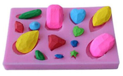 Gems Jewels 14 Cavity Silicone Mold for Fondant, Gum Paste, Chocolate, Crafts