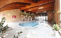 Very Spacious One Bedroom - Hot Tub, Sauna & Workout Area!