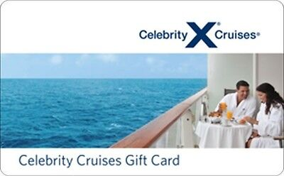 Celebrity Cruises Gift Card    25  50  100   Email Delivery