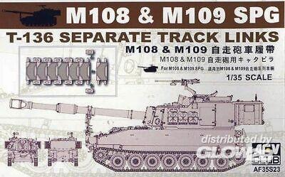 AFV Club 35S23 Detailsets Fahrzeuge M109 SP GUN TRACKS