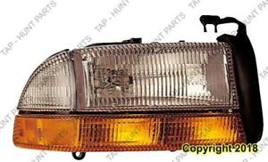 Head Lamp Passenger Side With Side Marker High Quality Dodge Durango 1998-2003