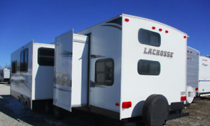 2013 Lacrosse Prime Time Triple Bunk with Outside Kitchen