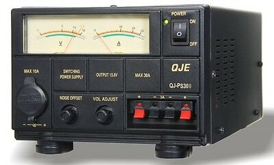 QJPS30II 30 35 AMP POWER SUPPLY PSU sps maas Ham Radio UK PLUG