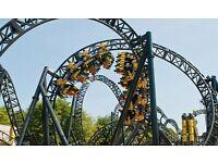 2x Alton Towers Theme Park Tickets 20/06/2016