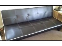 Black leather sofa bed can be delivered