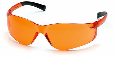 6 Pair Pyramex Ztek Orange Lens Safety Glasses