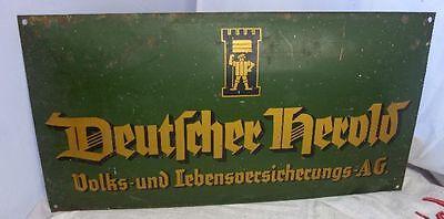 altes Blechschild Deutscher Herold Vesicherung