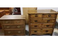 Stunning Antique Set of 2 Chest of Drawers