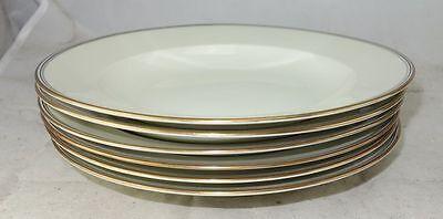 Langenthal Porzellan Elfenbein mit Goldrand 6 Suppenteller