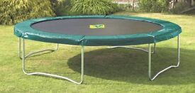 12 Foot TP Heavy Duty Trampoline with Summer&Winter Covers&Steps Suit Adults&Children Good Condition