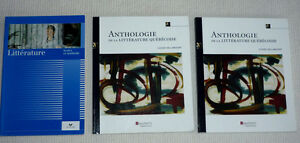French Anthology book:  Anthologie de la Litterature Quebecoise