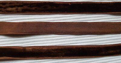 5m uraltes REINES SEIDEN Silk SATIN Band doppelseitig 4mm um 1920 Nr.12 Antik