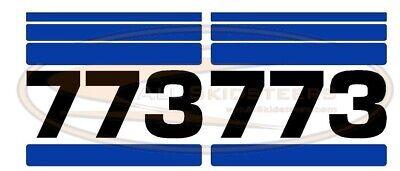 For Bobcat 773 Side Decal Sticker Kit Skid Steer Loader Number With Stripes