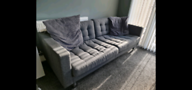 Contact via WhatsApp only. CHARCOAL Grey Sofa 4 seater for sale.