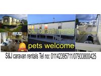 3 bedroom 8 berth pet friendly & pet free caravans for rent in Ingomells /Skegness