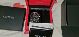 Citizen eco drive radio controlled red arrows watch