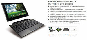 REDUCED $100 firm Asus Convertible Tablet, touch screen, TF101
