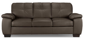 Beautiful Naples Leather Couch in Perfect Condition - $650