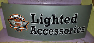 HARLEY DAVIDSON Steel Curved Wall Sign HD Motorcycle