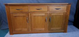 Large solid oak sideboard from NEXT