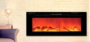 "Fully Recessed 50"" Electric Fire place by TOSO  2 years warranty"