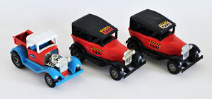 TONKA LOT 3 TOYS~ HOT ROD PICKUP TRUCK & 2 TAXIS EXCELLENT