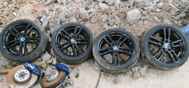 "Bmw 1 Series 18"" Black Alloy Wheels Parts Breaking"