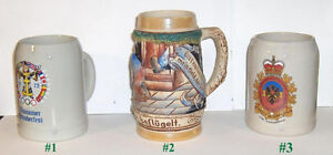 Lot of 3 Collectable Beer Steins