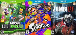 WiiU Games For Sale or Trade - Splatoon, New Super Luigi, ZombiU