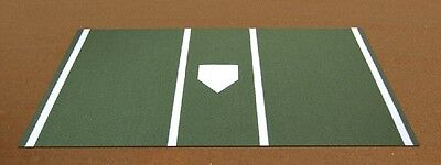 Pro Baseball Turf Home Plate Mat - 6'x12' Green Turf Home Plate Mat