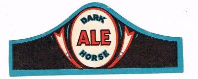 1930s MICHIGAN Pontiac Wolverine Dark Horse Ale Beer Neck Label Tavern Trove