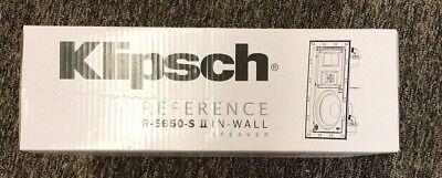 """Klipsch 6.5"""" White In-Wall Speaker, Model R5650S II (Sold As Each) Brand New!"""